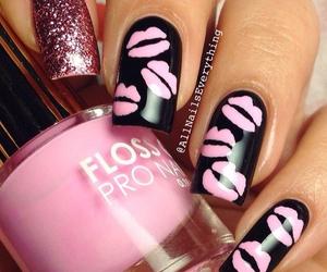 nails, kiss, and lips image
