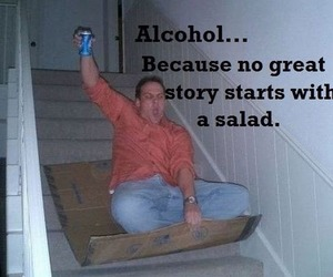 alcohol, funny, and salad image
