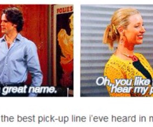 name, phoebe, and pick-up line image