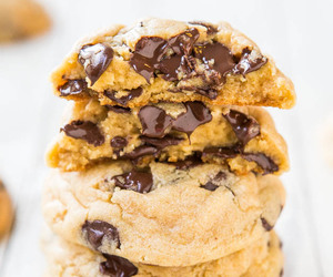 chocolate, Cookies, and chocolate chips cookies image