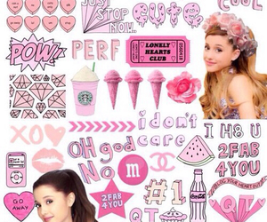 ariana grande, pink, and Collage image
