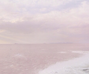 ocean, pale, and pink water image
