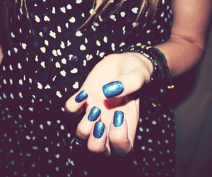 blue, girl, and glitter image