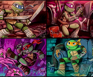 donatello, Leonardo, and michelangelo image