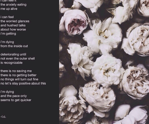 anxiety, flowers, and poem image