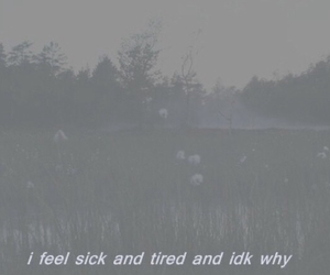 alone, field, and sick image