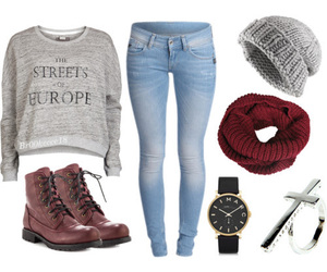 clothes, Polyvore, and jeans image