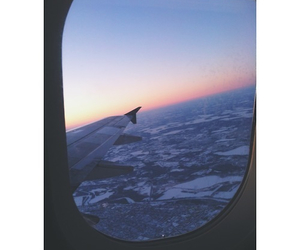 airplane, travel, and adventure image