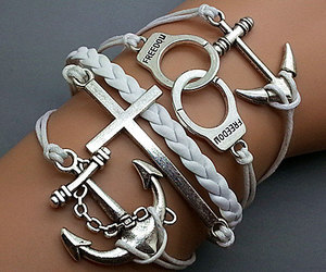 anchor, cool, and fashion bracelet image