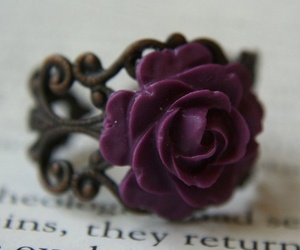 flower, ring, and rose image