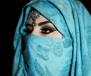 eyes, niqab, and fashion image