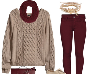 burgundy, fashion, and style image