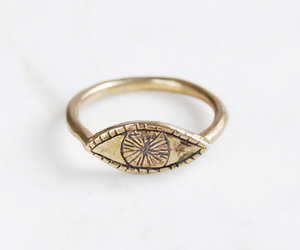 ring, eye, and gold image
