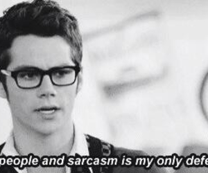 sarcasm, dylan o'brien, and quote image