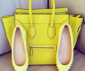 fashion, yellow, and bag image