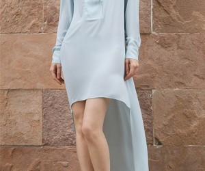 light blue dresses, bcbg runway, and bcbg high low dress image