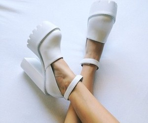 shoes, white, and fashion image