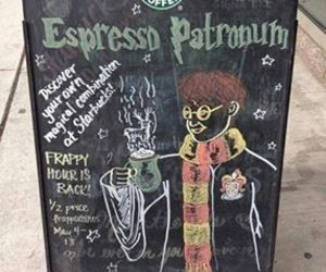 harry potter, starbucks, and coffee image