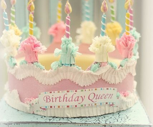 cake, birthday, and pastel image