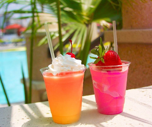 summer, drink, and strawberry image