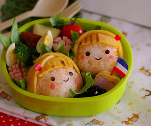 cute and japanese bento image