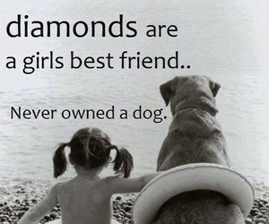 dog, girl, and diamond image