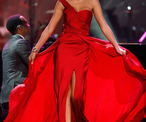 dress, red, and beautiful image