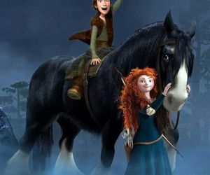 brave, pixar, and merida image