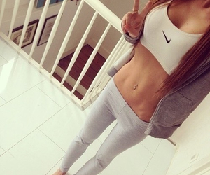 fit, sexy, and girl image