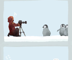 comic, penguin, and cute image