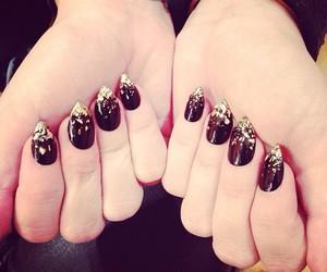 nails, demi lovato, and black image