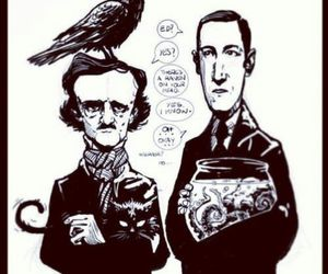 edgar allan poe, funny, and h.p lovecraft image