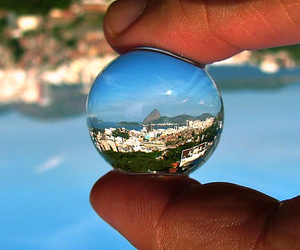 city, brasil, and sunset in rio image