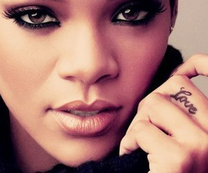 rihanna, tattoo, and ring image
