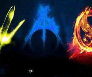 percy jackson, harry potter, and hunger games image