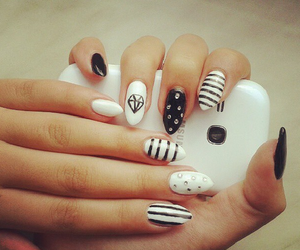 white, black, and nails image