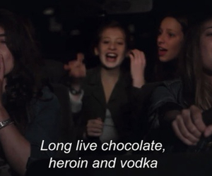 vodka, chocolate, and heroin image