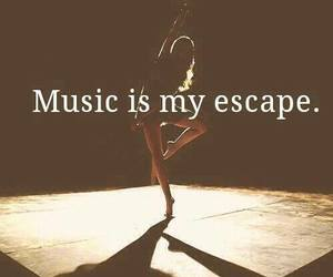 escape, girl, and music image