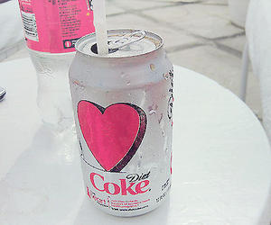 coke, pink, and heart image