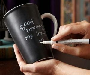 love, morning, and cup image