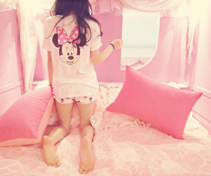 pink, girl, and minnie image