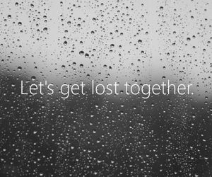lost, rain, and together image