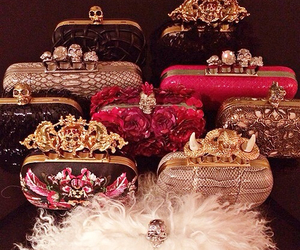 bag, luxury, and clutch image