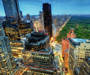 broadway, dusk, and nyc image