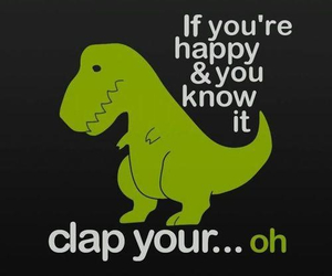 dinosaur, funny, and happy image