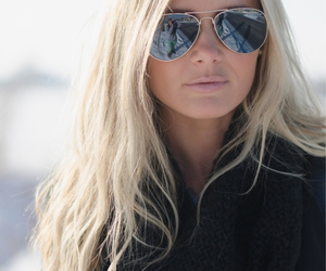 blonde, hair, and sunglasses image