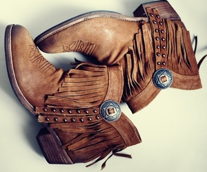 boots, brown, and cowboy image