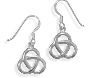 earrings, jewelry, and trinity knot image