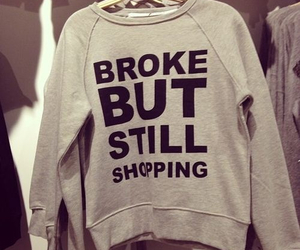 fashion, shopping, and broke image