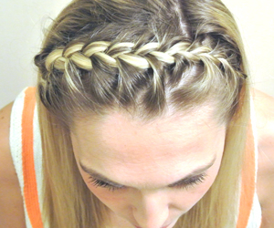 braided, hair, and headband image